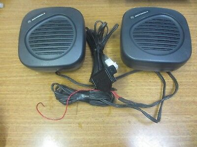 Lot Of 2 Motorola Hsn4030a Two Way Mobile Radio Speaker
