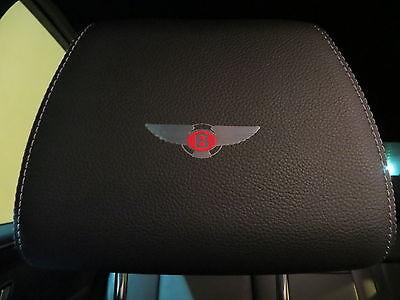(4pcs) Headrest badge sticker decal *BENTLEY* Red Label