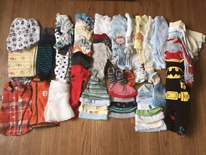 Size 0-3 months baby clothes lot