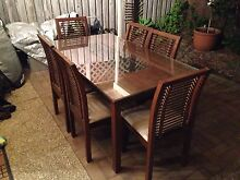 7 Piece Dining Table and Chairs Setting Palm Beach Gold Coast South Preview