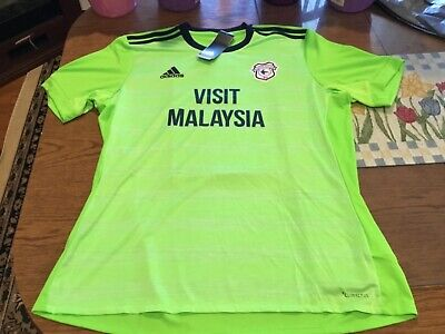 2018/19 Cardiff City,EPL,3rd alternate,soccer jersey men's XL NWT, addidas Wales image