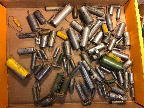 Lot of 91 Vintage Vitamin Q style Oil Capacitors Guitar Amp PIO Tone Caps
