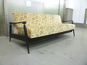 ITALIAN VINTAGE RETRO SOFA BED RETRO CHROME TEAK PONTI DANISH 50s 60s 70s ERA