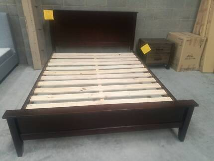 Brand New NZ Pine Timber Bed Frame in Queen and Double