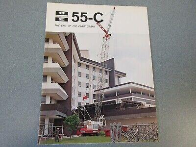 Rare Bucyrus-erie 55-c Crane Excavator Sales Brochure 1969