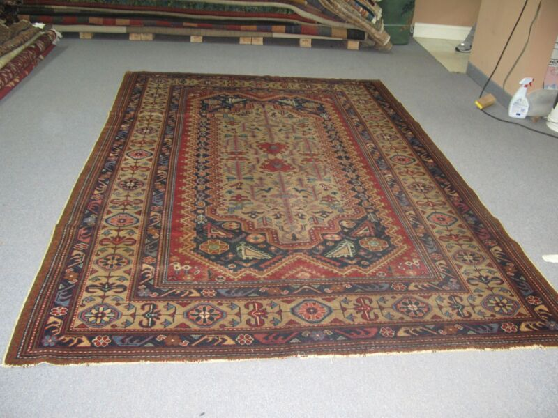 Antique Agra Amritsar India Hand Knotted Wool Rug 6