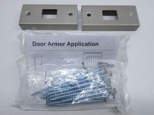 Door Armor Mini - Door Security Reinforcement Kit Satin Nickel HARDWARE ONLY