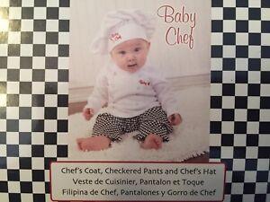 Baby Chef costume 6-9m