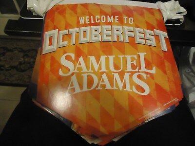 Oktoberfest Banner (20' Samuel Adams Octoberfest Beer String Banner bar Sign Brand New)