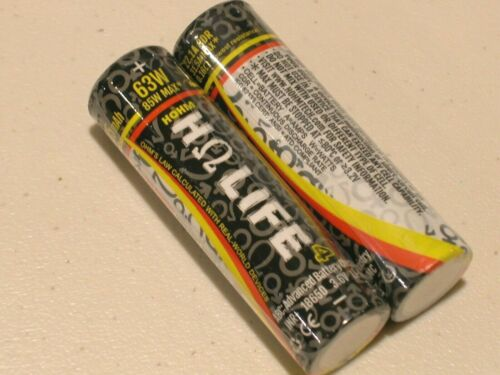 2 x Hohm Life⁴ V4 rechargeable battery HΩ 3015mAh 22.1 CDR A w/ NYL. CASE