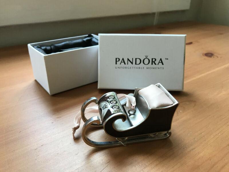 PANDORA 2010 Sleigh Ornament, Original Condition & Box, RARE!