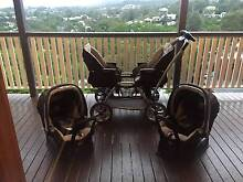 Twin Pram and Capsules- Peg Perego Duette, with steering wheel! Bardon Brisbane North West Preview