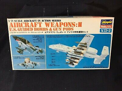 Vintage Hasegawa Aircraft Weapons:II US Guided Bombs & Gun Pods 1/72 -