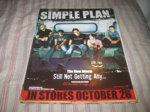 SIMPLE PLAN-(still not getting any)-1 STATIC STICKER-11X14 INCHES-RARE!!