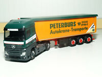 """Herpa 1:87 311663 2018 MB Actros Streamspace 2.5 Koffer-Sz /""""Oppel Ansbach/"""" NEU"""