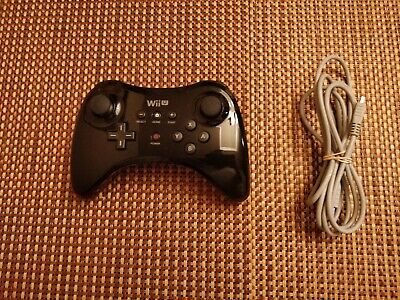 Nintendo Wii U Pro Controller (WUP-005) Black With Charging Cable