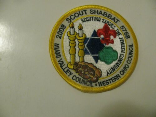BSA Boy Scout 2008 Scout Shabbat  Ohio Jewish Patch NOS  New Stock Free Shipping