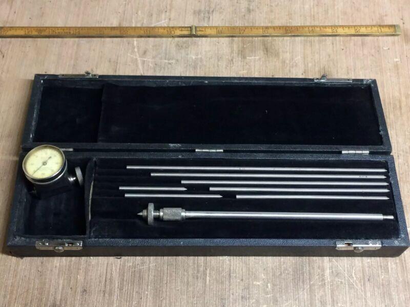 STARRETT NO 696-B MACHINIST CRANKSHAFT DISTORTION STRAIN GAGE IN CASE