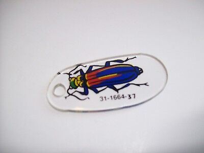 Bally THE ADDAMS FAMILY NOS Pinball Machine Plastic Bug Keychain #31-1664-37