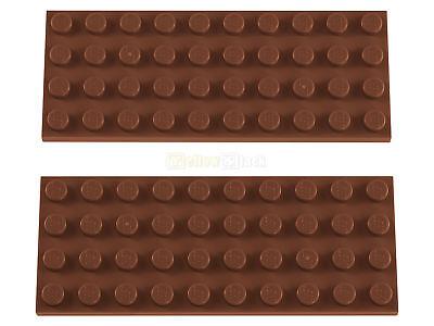 2X LEGO 3030 4X10 PLATTE BRAUN REDDISH BROWN NEU
