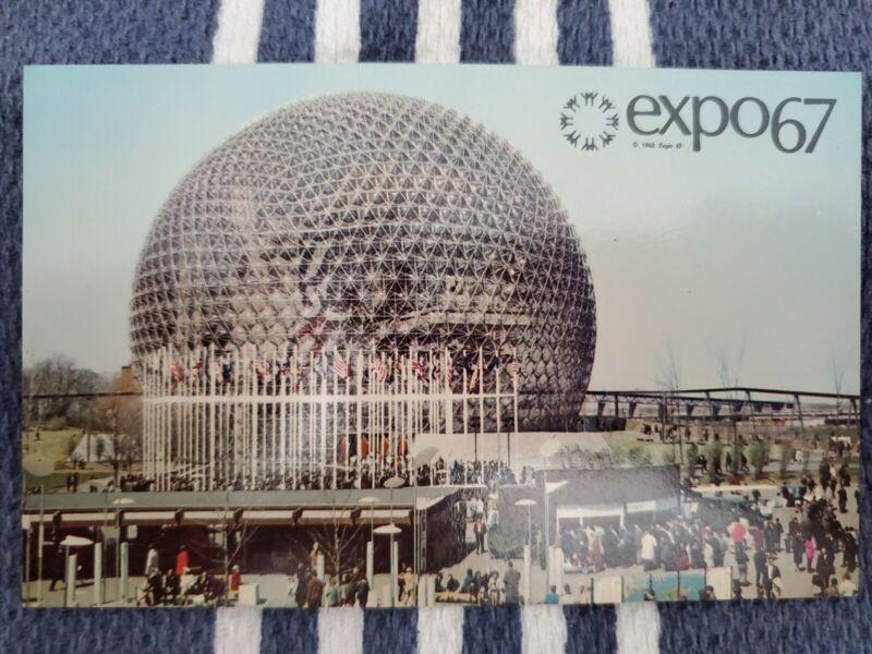 Vtg Postcard Expo 67 Montréal, Canada, United States Pavillion