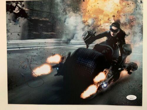 Dark Knight Rises Anne Hathaway Autographed Signed 11x14 Photo JSA COA