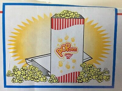 Popcorn Bags 1.5 Oz Concession Machine Supplies 5 X 10 Carnival 350 Ct Bogo
