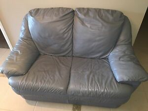 Two seater Leather Lounge Morpeth Maitland Area Preview