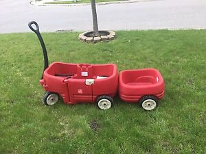 Step2 Wagon for Two w/ Tag-a-Long Trailer