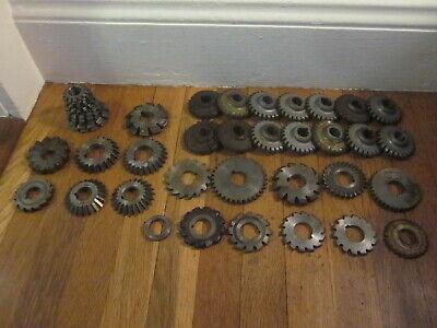 Machinist Lathe Mill Tool Lot 43 Side Milling Machine Involute Gear Cutters