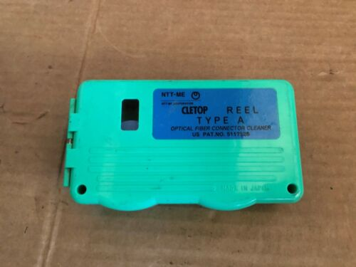 PARTIAL USED CLETOP REEL TYPE A OPTICAL FIBER CONNECTOR CLEANER