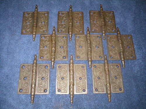 "Antique Victorian Decorative 3 1/2"" Cast Iron Door Hinge."