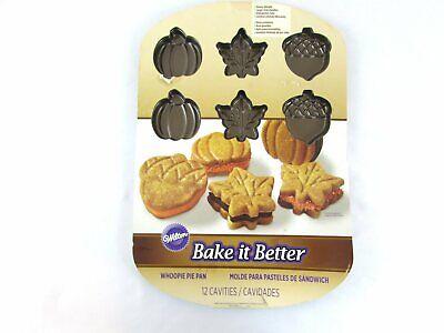 Whoopie Pie Pan (Wilton Whoopie Pie Pan 12 Cavity Autumn Pumpkins Leaves &)