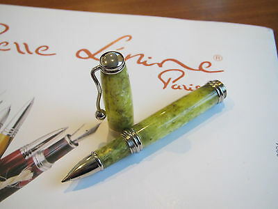 Jean-Pierre Lepine Indigo IN44RS lemon yellow marble resin Rollerball pen MIB