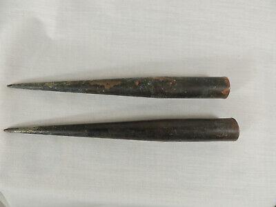2 NATIONAL Copper Lightning Rod Points Tips Finials 7