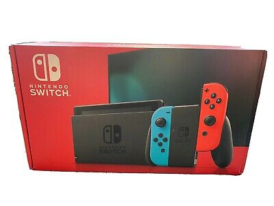 Nintendo Switch Console w/ Neon Red Blue Joy-Cons 32GB NEW Best Price! Free