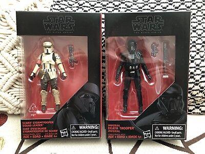 STAR WARS BLACK SERIES (Walmart) 3.75 • Scarif Squad Leader & Death Trooper •