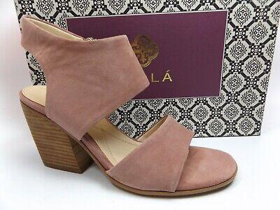 Isola Women's Ravenna Block Heel Sandal Mulberry Suede Sandals, SZ 8.5 M, D10265