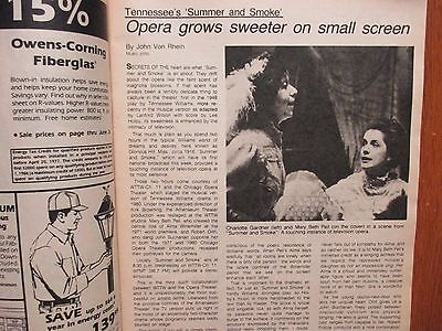 June 20  1982 Chicago Tribune Tv Week Magazine  Charlotte Gardner Mary Beth Peil