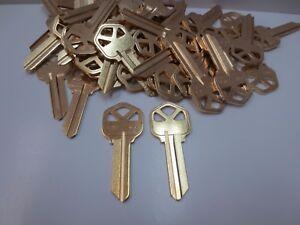Key Blanks for Locksmith / 50 Kwikset KW1 / Brass / Made by Ilco