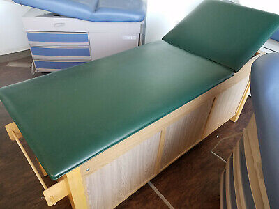 Large Medical Exam Table Wood-green Color