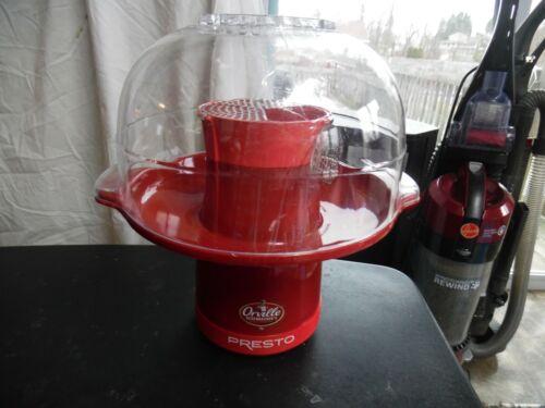 Orville Redenbacher Presto red fountain popcorn popper 0486810