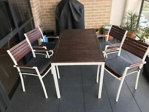 IKEA Outside Table and Four Chair Set