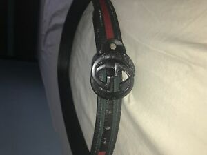 8ae2bff7753 Gucci belt black leather