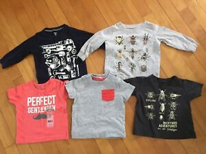 Carter's and George 6-12 month shirts