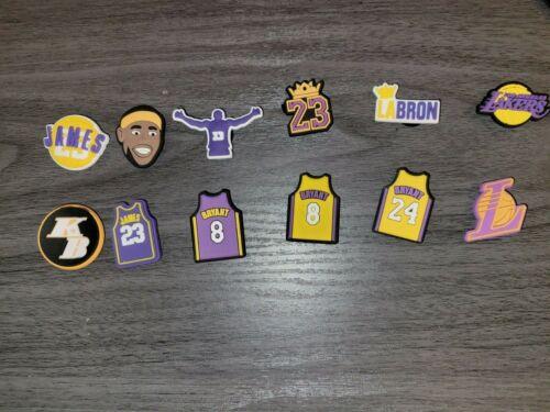 Kobe Bryant LaBron James LA Lakers Basketball Croc Charm Jibbitz, Your Choice
