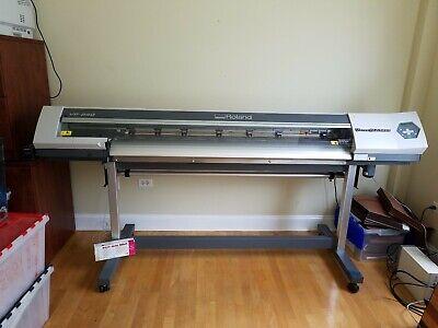 Roland Versacamm Vp-540 54 Eco-solvent Inkjet Printercutter Low Hours