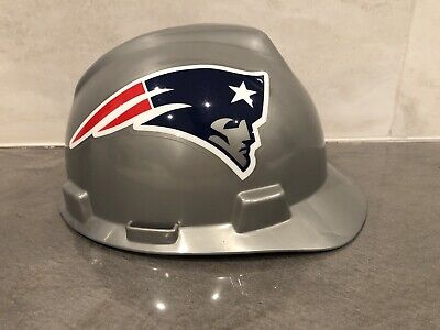 New England Patriots MSA V-Gard Hard Hat - MEDIUM Never Worn Only displayed