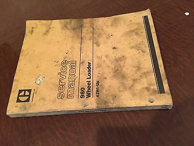 Caterpillar Cat 980 980 Wheel Loader Service Manual Sn 42h1-up Re000123