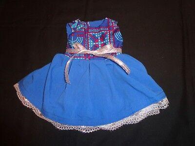 (doll dress for 18 inch american girl hanukkah dreidel menorah handmade rare 219)